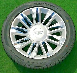 Cadillac Escalade Platinum Wheels Tires Goodyear New 2020 Oem Factory Gm Spec 22