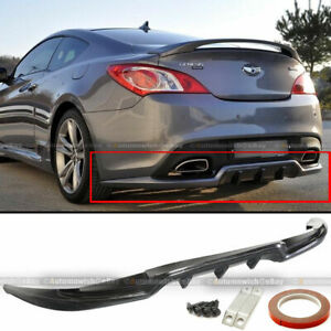 Fit 10 16 2dr Genesis Coupe Sport Style Pu Rear Bumper Lip Diffuser Body Kit