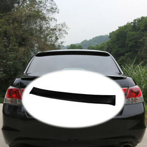 Fit For Honda Accord 8th 2008 2013 Abs Black Roof Trunk Spoiler Wing Flap 1pcs