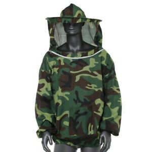 Beekeeping Protective Jacket Veil Dress Suit pull Hat Smock Equipment Camouflage