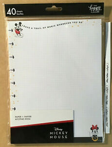 New The Happy Planner Mickey Minnie trail Of Magic Classic Filler Paper