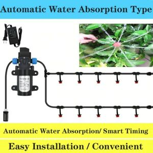 45w Water Pump Garden Drip Irrigation System Auto Watering Without Water Source