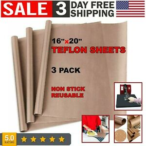 Teflon Sheet For Heat Press Teflon Transfer Sheets Art Craft Supply Paper 3 Pack