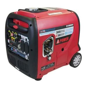 A ipower 3800 Watts Dual Fuel Gasoline propane Inverter Generator Electric Start