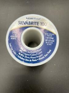 New Lucas Milhaupt Silvabrite 100 Lead Free Solder Roll 1lb 1 8