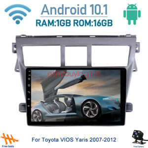 Android 10 1 Car Dvd Player Radio Gps Navigation Wifi For Toyota Vios Yaris 2007