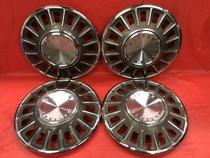 Vintage Set Of 4 1968 Ford Mustang 14 Hubcaps
