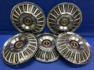 Vintage Set Of 5 196772 Ford 15 Hubcaps Galaxie Ltd F100