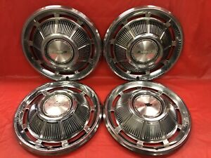 Vintage Set Of 4 1969 Chevrolet Impala 15 Hubcaps Good Condition