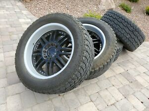 Five 22 Kmc Backseat Wheels Rims 325 50 22 Falken Tires Hummer H2