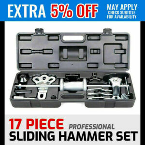 17pc Wheel Puller 5lb Slide Hammer Internal External Puller Hub Dent Us Stock