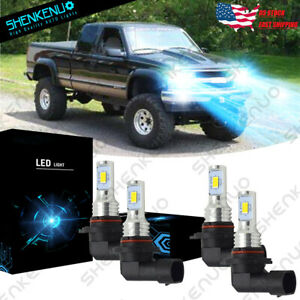 For 94 98 Chevy C K Pickup Silverado Suburban Tahoe Yh 8000k Led Headlight Bulbs