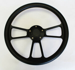 1985 1988 Ford Ranger Black Grip On Black Billet Steering Wheel 14