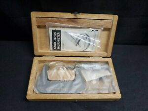 Vintage Nsk Micrometer Range 1 2 Mic N32372 W Wooden Box And Manual Nos