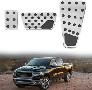 Accelerator Gas Pedal Brake Pedal Cover Pads Kit For Dodge Ram 1500 2500 3500