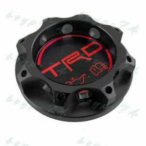 Trd Racing Black Engine Oil Filler Cap Oil Tank Cover Aluminium For All Toyota