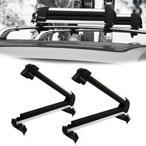 Universal Roof Mount Snowboard Car Rack Fits 4 Snowboards 8 Pairs Ski Carrier