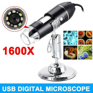 1600x Usb Digital Microscope Biological Endoscope Magnifier Camera With Stand