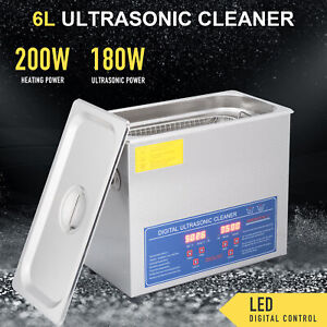 6l Professional Digital Ultrasonic Cleaner Machine With Timer Heated Cleaning
