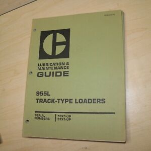 Cat Caterpillar 955l Track Loader Maintenance Manual Owner Guide Book Crawler