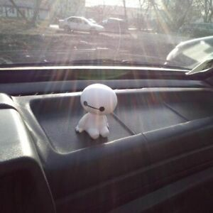 Car Ornament Cute Shaking Head Robot Doll Decoration Auto Interior Dashboard Toy