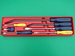 Snap On 7 Pc Pry Bar Screwdriver Set Spb12 Spb16 Ssd1 Ssd2 Ssd4 Ssd6 Ssd8