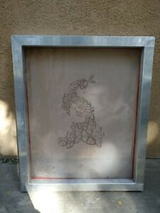 20 X 21 Aluminum Frame With 130 Mesh Screen Printing Screen Used
