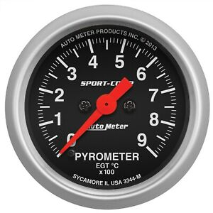 Autometer 3344 m Sport comp Electric Pyrometer Gauge Kit