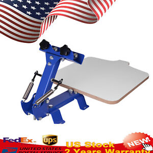 1color 1station Silk Screen Printing Machine T shirt Pressing Printer Equipment