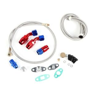 Car Turbo Charger Oil Drain Return Feed Line Repair Kit With 3 An10 Fitting At