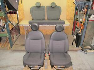 12 16 Fiat 500 Pop Front Rear Left Right Cloth Seat Set Oem