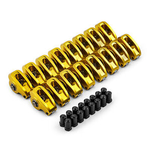 Chevy Sbc 350 1 6 Ratio 7 16 Aluminum Roller Rocker Arms Set