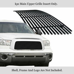Fits 2007 2009 Toyota Tundra Main Upper Stainless Black Billet Grille Insert