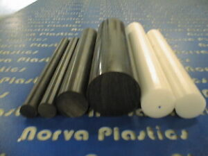 30766b Delrin 1 1 2 Dia 8 Long Rod Black For Sale