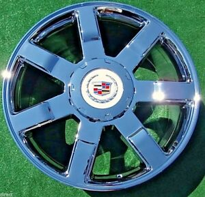 Cadillac Escalade 22 Inch Wheels Chrome Set Of 4 New Oem Factory Gm Style Tahoe