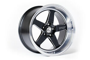 Cosmis Racing Xt 005r Black With Machined Lip 18x9 25 5x120