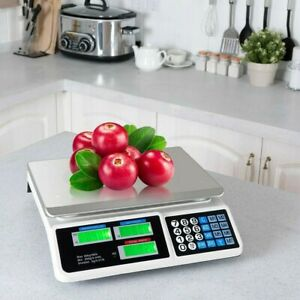 66 Lbs Digital Weight Scale Price Computing Retail Food Meat Count Scale