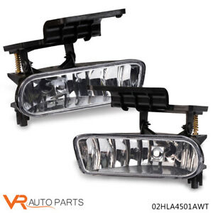 Clear Bumper Fog Lights Driving Lamps Fit 2000 2006 Chevy Suburban Tahoe