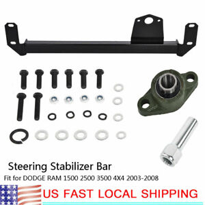 Steering Gear Box Stabilizer Bar For Dodge Ram 1500 2500 3500 4x4 2003 2008 Us