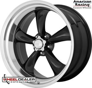 22 Black American Racing Vn315 Wheels Rims For Gm Obs C10 Squarebody 88 98
