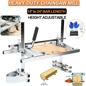 Chain Saw Mill Log Planking Lumber Cutting Chainsaw Guide Bar 14 24 Samger