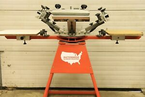 4 Color 2 Station Screen Printing Press