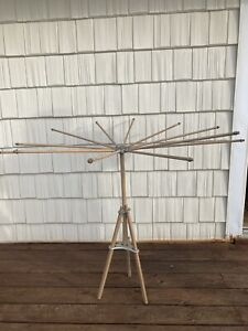 Antique Folding Clothes Drying Rack 12 Spoke Vintage Old Artmore Company