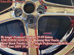 99 04 Saleen S281 S281sc S281e S351 Mustang Rear Fascia Side Vent Perf Screen