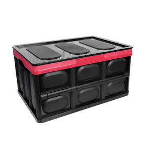 Car Trunk Organizer Container Foldable For Suv Truck Durable Storage Box V0c1