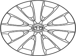 Toyota Corolla 2009 2010 Steel Wheel Cover Type 1 Japan Built 42602 12720