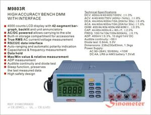 M9803r True Rms Bench Type Digital Multimeter With Rs232c Standard Interface