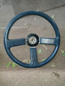 Buick Reatta Steering Wheel 1988 1989 Blue Leather T Type Style no Cap