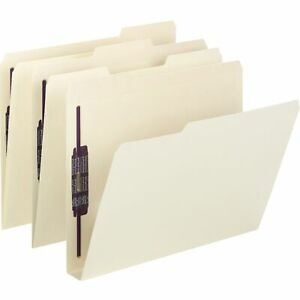 Smead Extra capacity Manila Folders W safeshield Coated Fasteners Letter 50 box