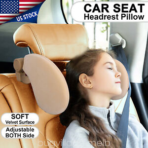 Adjustable Car Seat Pillow Headrest Head Support Rest Nap Sleep Side Cushion Us